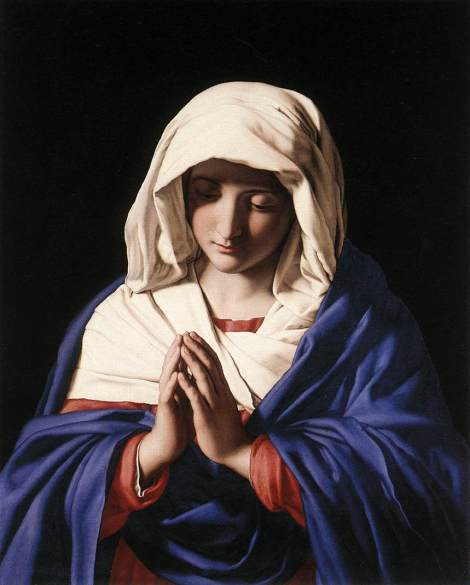 Giovanni Battista Salvi da Sassoferrato, The Virgin in Prayer, c. 1650 (National Gallery, London)