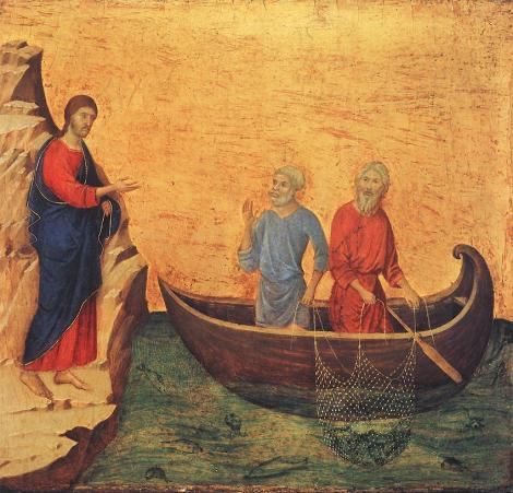 Duccio di Buoninsegna, Calling of Peter and Andrew, c. 1310 (National Gallery of Art, Washington, D.C.)