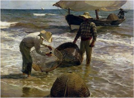 Joaquín Sorolla, Valencia Fishermen, 1897 (Private Collection)