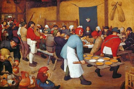 Pieter Brueghel the Younger, The Wedding Feast in a Barn, 1622 (Private Collection)