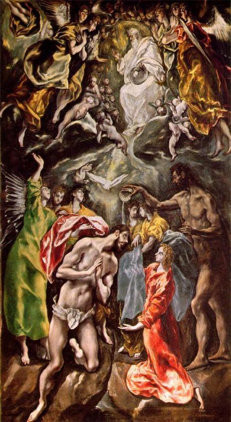 El Greco, Baptism of Christ, c. 1608 (Hospital de San Juan Bautista de Afuera, Toledo)