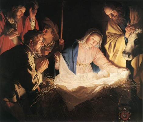 Gerrit van Honthorst, Adoration of the Shepherds, 1622 (Wallraf-Richartz Museum, Cologne)
