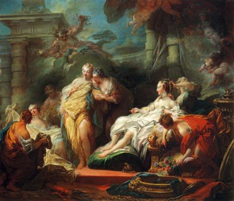 Jean-Honoré Fragonard, Psyche Showing Her Sisters Her Gifts from Cupid, 1753-54 (National Gallery, London)