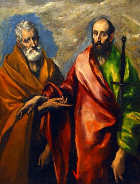 El Greco, St Paul and St Peter, c. 1595 (Museu Nacional d'Art de Catalunya, Barcelona)