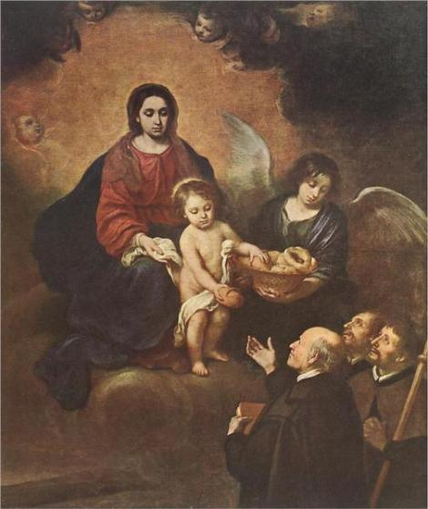 Bartolome Esteban Murillo, The Infant Jesus Distributing Bread to Pilgrims, 1678 (National Museum, Budapest)