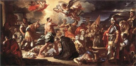 Francesco Solimena, The Martyrdom of Sts Placidus and Flavia, 1697-1708 (Museum of Fine Arts, Budapest)