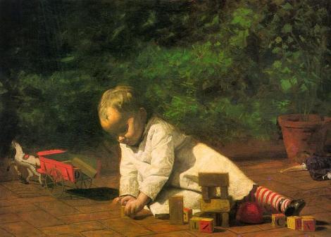 Thomas Eakins, Baby at Play, 1876