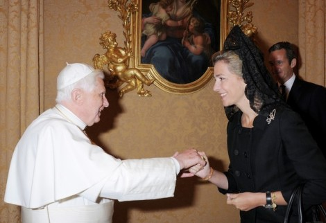 Pope Benedict XVI and Infanta Dona Cristina of Spain, 2008