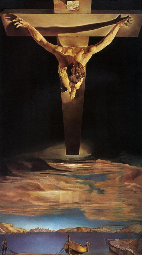 Salvador Dali, Christ of St John of the Cross, 1951 (Kelvingrove Art Gallery, Glasgow)