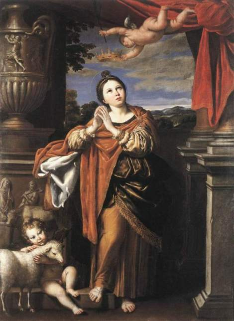 Domenichino, Saint Agnes, 1620 (Royal Collection, Windsor)