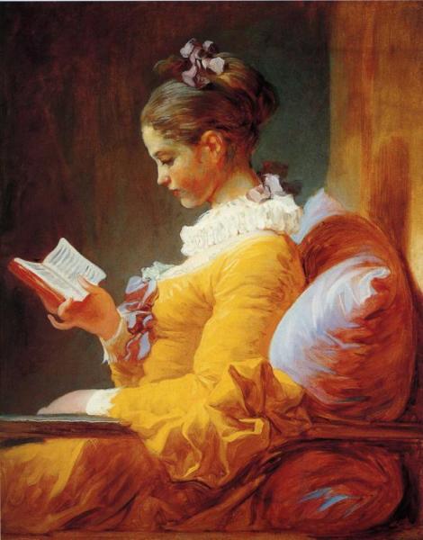 Jean-Honoré Fragonard, A Young Girl Reading, 1776 (National Gallery of Art, Washington, D.C.)