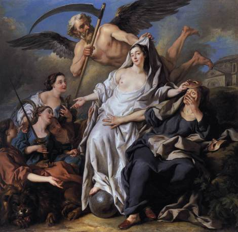 Jean-François de Troy, An Allegory of Time Unveiling Truth, 1733 (National Gallery, London)