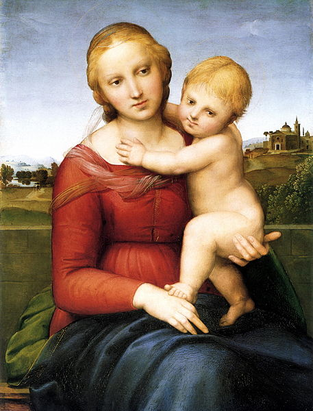 Raphael, The Small 'Cowper' Madonna, c. 1505 (National Gallery of Art, Washington D.C.)