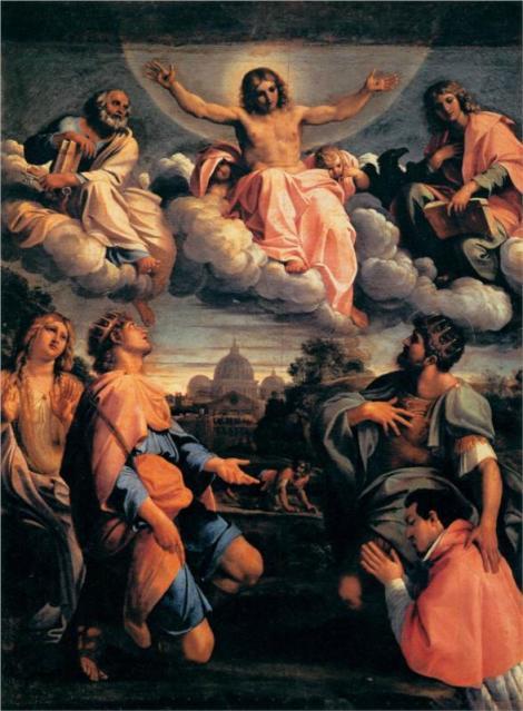Annibale Carracci, Christ in Glory, 1598 (Palazzo Pitti, Florence)