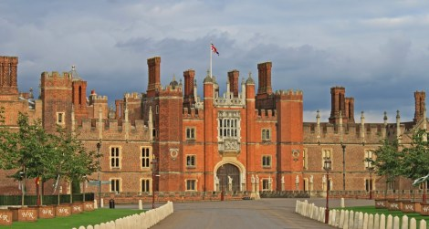 Hampton Court Palace, Richmond. Formerly the residence of Cardinal Woseley until he couldn't get Henry VIII a divorce.