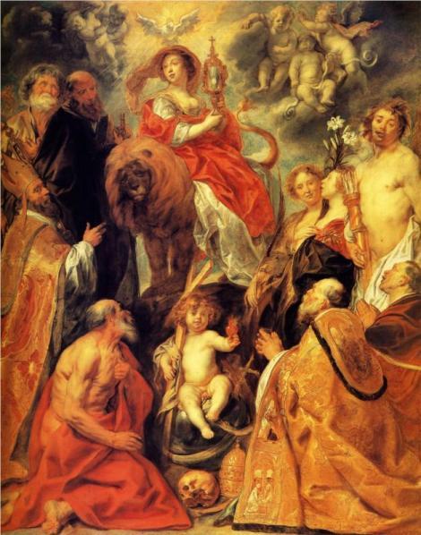 Jacob Jordaens, The Veneration of the Eucharist, 1630 (National Gallery of Ireland, Dublin)
