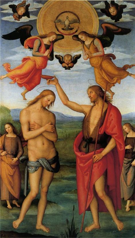 Pietro Perugino, Pala di Sant Agostino (Baptism of Christ), 1512-1523