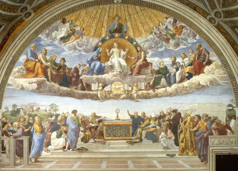 Raphael, Disputation of the Blessed Sacrament, 1510 (Stanza della Segnatura, Palazzi Pontifici)