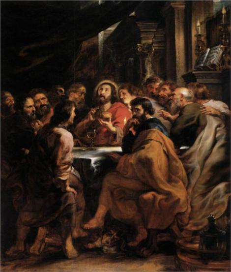 Peter Paul Rubens, The Last Supper, 1632 (Pinacoteca di Brera, Milan)