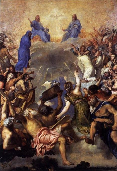 Titian, The Trinity in glory, 1554 (Museo del Prado, Madrid)
