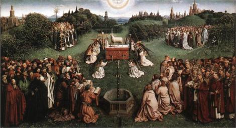 Jan van Eyck, Adoration of the Lamb, 1425-29 (Koninklijk Museum voor Schone Kunsten)