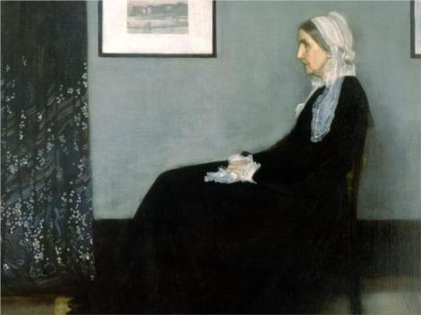 Arrangement in Grey and Black No.1, Portrait of the Artist's Mother, James McNeill Whistler, 1871 (Musée d'Orsay, Paris)