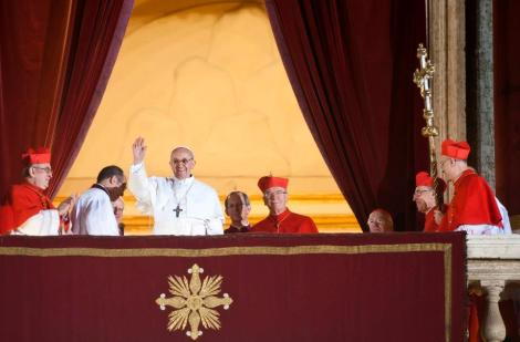 Pope Francis on the balcony of St Peter's, 2013