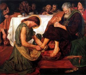 Ford Madox Brown, Jesus Washing Peter's Feet, 1876 (City of Manchester Art Galleries, Manchester)