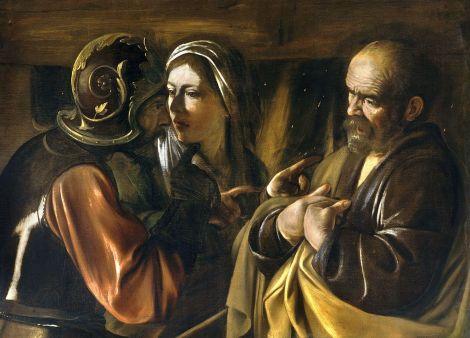 Caravaggio, The Denial of Peter, c. 1610 (Metropolitan Museum of Art, New York)