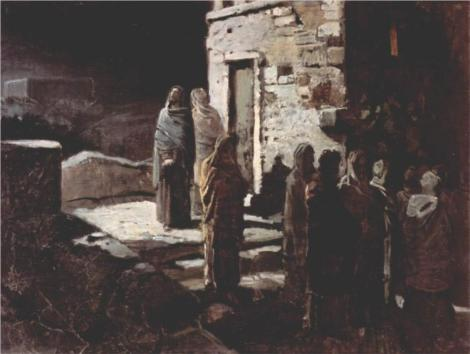 Nikolai Ge, Christ and His Disciples Entered the Garden of Gethsemane, 1888 (Tretyakov Gallery, Moscow)