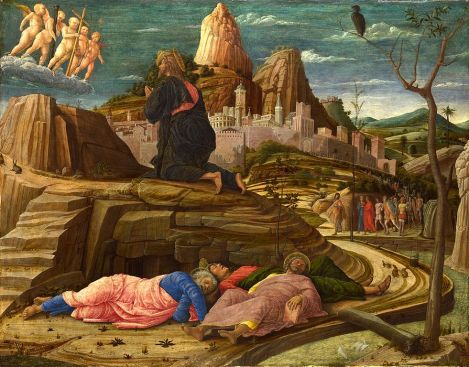 Andrea Mantegna, Agony in the Garden, c. 1460 (National Gallery, London)