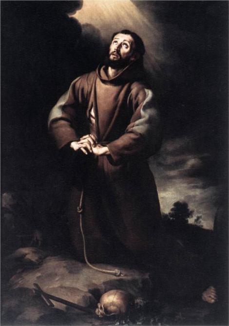 Bartolome Esteban Murillo, St Francis of Assisi at Prayer, 1650 (O.-L. Vrouwekathedraal, Antwerp)