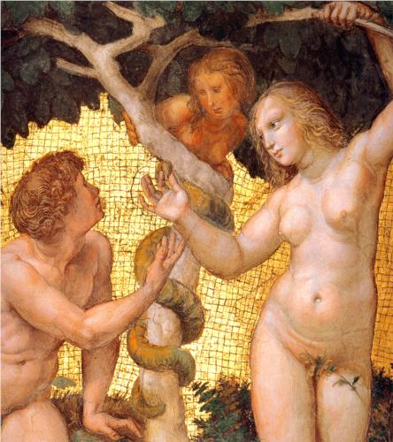Raphael, Adam and Eve (detail), 1511 (Stanza della Segnatura, Vatican)