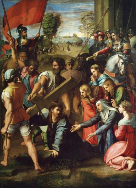 Raphael, The Fall on the Road to Calvary, 1517 (Museo del Prado, Madrid)