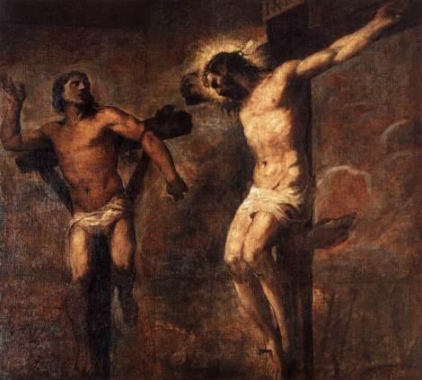 Tiziano Vecellio (Titian), Christ and the Good Thief, 1566 (Pinacoteca Nazionale, Bologna)
