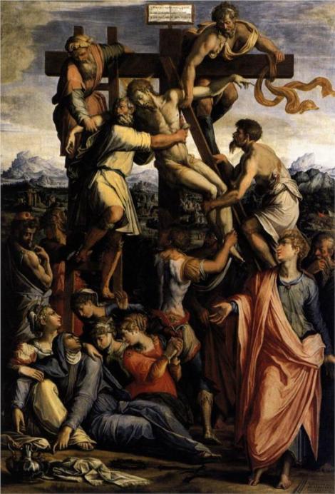 Giorgi Vasari, Deposition from the Cross, c. 1540 (Santi Donato e Ilariano, Camaldoli)