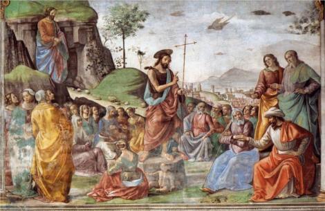 Domenico Ghirlandaio, Preaching of St John the Baptist, 1490 (Santa Maria Novella, Florence)