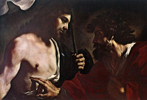 Guercino, Doubting Thomas, 17th C. (Residenzgalerie, Salzburg)