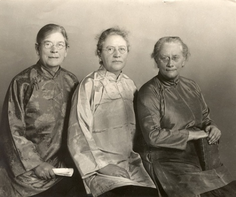 (l to r) Eva French, Francesca & Mildred Cable