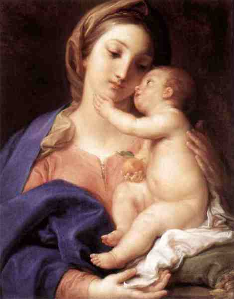 Pompeo Batoni, Madonna and Child, 1742 (Galleria Borghese, Rome)