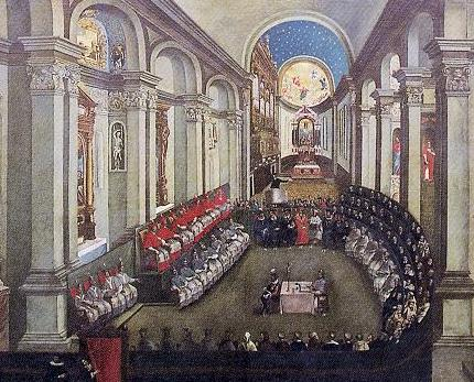 Council of Trent, late 17th C. (Santa Maria Maggiore, Museo Diocesano Tridentino, Trento)