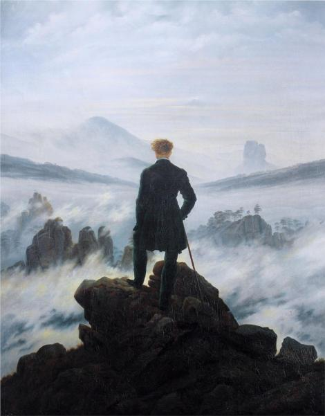 Caspar David Friedrich, The Wanderer Above the Fog, 1818 (Kunsthalle Hamburg)