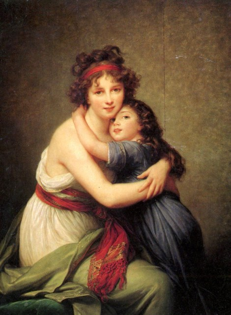 Vigee Lebrun, Madame Vigee Lebrun and her daughter, Jeanne Lucie Louise, 1789 (Musée du Louvre, Paris)