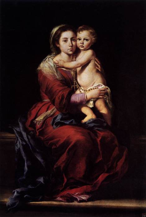 Bartolome Esteban Murillo, Madonna of the Rosary, 1650 (Palazzo Pitti, Florence)