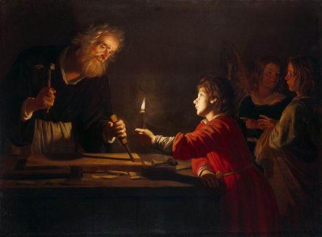 Gerard van Honthorst, Childhood of Christ, c. 1620 (Hermitage Museum, Saints Petersburg)