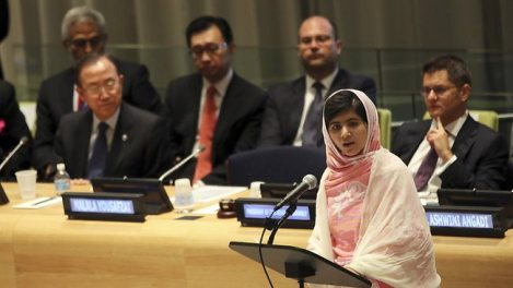 Malala at the UN, 12th July 2013