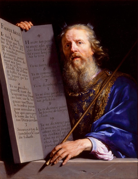 Philippe de Champaigne, Moses Presenting the Tablets of the Law, c. 1648 (Hermitage Museum, St Petersburg)