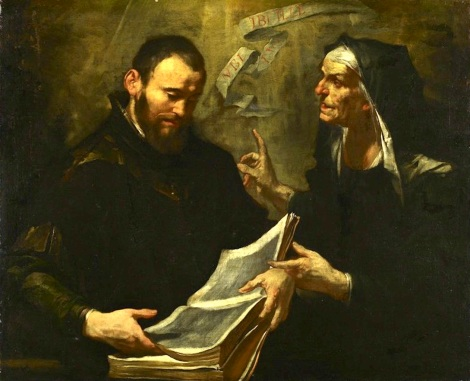 Giaochino Assereto, St Augustine and St Monica, 17th C. (Minneapolis Institute of Arts)