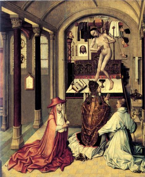 Robert Campin, Mass of St Gregory, c. 1415 (Musée Royaux des Beaux-Arts, Brussels)