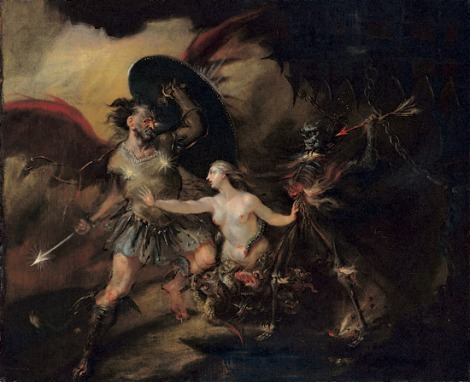William Hogarth, Satan, Sin and Death, 1740 (Tate Gallery, London)
